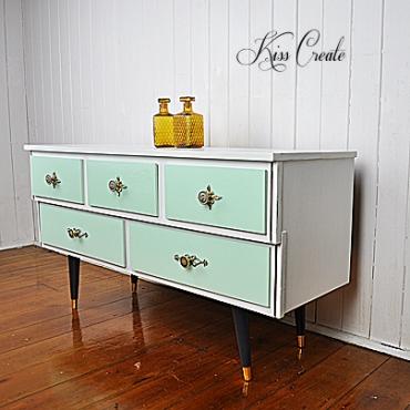 Minty Retro Dresser