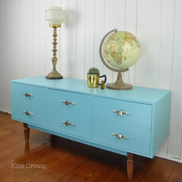 Retro Blue Sideboard